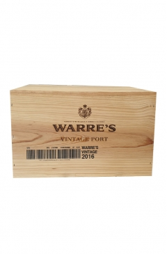 warre's vintage port 2016 (wooden case of 6)
